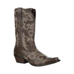 Men's Durango Boot DDB0088 12in Gambler Western Stitch Boot Brown Faux Leather