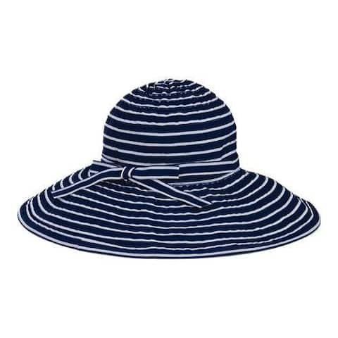 b3507b1e67419 Women s San Diego Hat Company Ribbon Braid Large Brim Hat RBL207 Navy White
