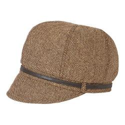 Women's San Diego Hat Company Belted Newsboy EBH9000 Brown