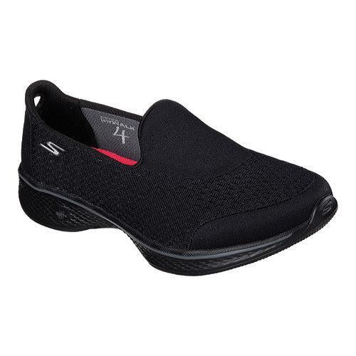 Women's Skechers GOwalk 4 Pursuit Slip On Walking Shoe Black