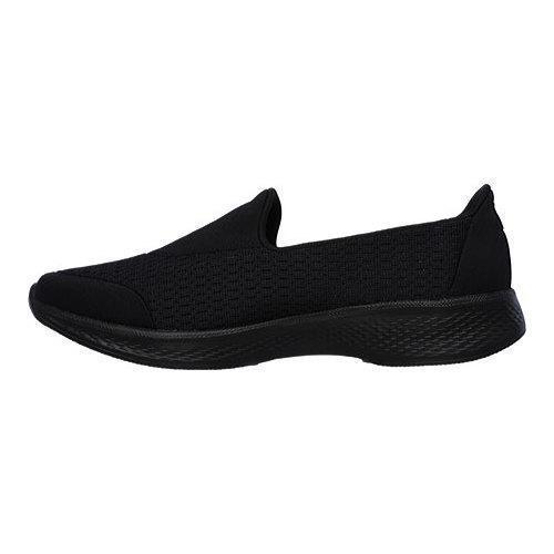 Women's Skechers GOwalk 4 Pursuit Slip On Walking Shoe Black - Thumbnail 2