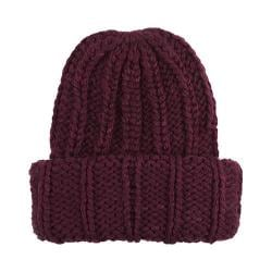 Women's San Diego Hat Company Wide Cuff Cable Knit Beanie KNH3304 Wine