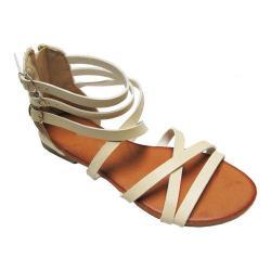 Women's Westbuitti Carmen-21 Ankle Strap Sandal Beige