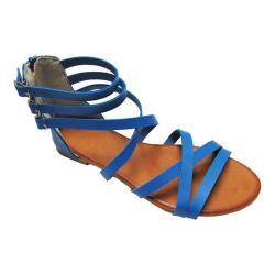 Women's Westbuitti Carmen-21 Ankle Strap Sandal Blue