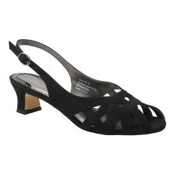Women's Ros Hommerson Pearl Slingback Black Microtouch