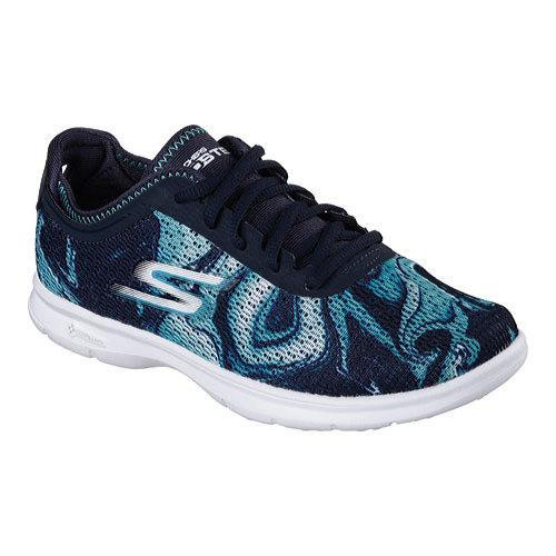 Shop Women s Skechers GO STEP Daze Walking Shoe Navy Blue - Free Shipping  Today - Overstock.com - 12023785 cf08966cba54