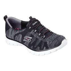 Women's Skechers EZ Flex 3.0 Take The Lead Bungee Lace Sneaker Black/White