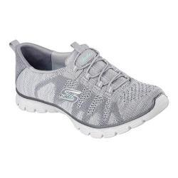 Women's Skechers EZ Flex 3.0 Take The Lead Bungee Lace Sneaker Gray