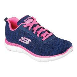 Women's Skechers Flex Appeal 2.0 Training Sneaker Navy/Pink