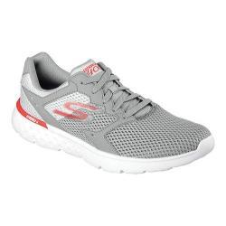 Men's Skechers GOrun 400 Running Shoe Light Gray/Red