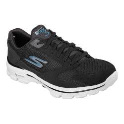 Men's Skechers GOwalk 3 Revolve Walking Shoe Black/Blue