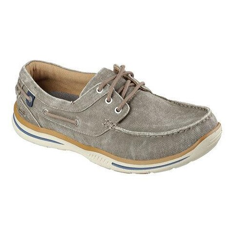 Men's Skechers Relaxed Fit Elected Horizon Boat Shoe Light Brown