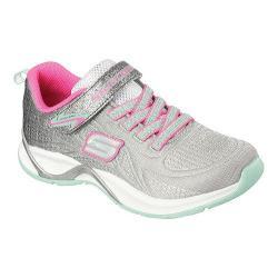 Girls' Skechers Hi Glitz Sneaker Gray/Aqua/Pink