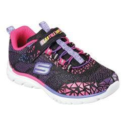 Girls' Skechers Nebula Prism Pop Bungee Lace Sneaker Black/Multi
