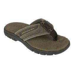 Boys' Crevo Renden Thong Sandal Brown Canvas