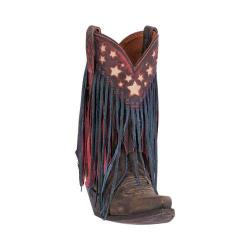 Women's Dan Post Boots Liberty Fringe Cowgirl Boot DP3531 Brown Leather