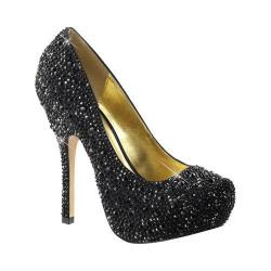 Women's Fabulicious Felicity 20 Pump Black Satin