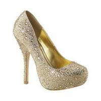 Women's Fabulicious Felicity 20 Pump Champagne Satin