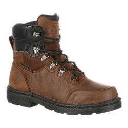 Men's Georgia Boot GB00092 6in EL Comp Toe Hiker Waterproof Work Boot Brown Full Grain Leather