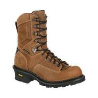 Men's Georgia Boot GB00098 9in CC Insul Logger Waterproof Work Boot Brown Full Grain Leather