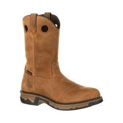 Men's Georgia Boot GB00103 10in CT Pull On Waterproof Work Boot Dark Brown Full Grain Leather