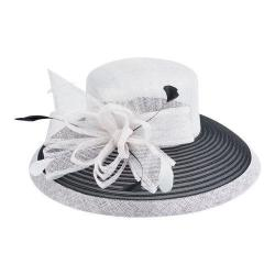 Women's San Diego Hat Company Dress Hat DRS1001 White/Black