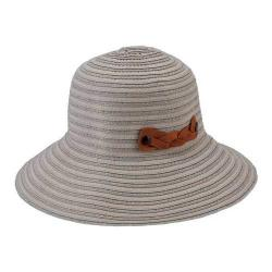 Women's San Diego Hat Company Packable Ribbon Crusher Medium Brim Hat RBM5557 Natural