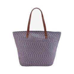 Women's San Diego Hat Company Paperbraid Tote BSB1557 Blue Mix