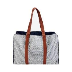 Women's San Diego Hat Company Paperbraid Tote BSB1564 Blue Mix