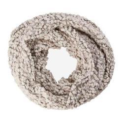 Women's San Diego Hat Company Plush Textured Yarn Infinity Scarf BSS1509 Ivory
