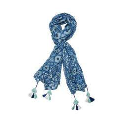 Women's San Diego Hat Company Print Scarf BSS1650 Blue