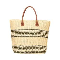 Women's San Diego Hat Company Straw Tote BSB1362 Natural