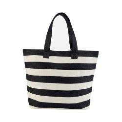Women's San Diego Hat Company Wide Stripe Tote BSB1556 Black