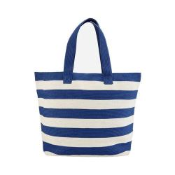 Women's San Diego Hat Company Wide Stripe Tote BSB1556 Blue