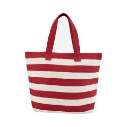 Women's San Diego Hat Company Wide Stripe Tote BSB1556 Red