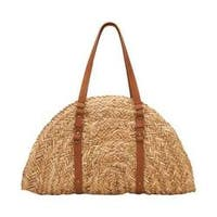 Women's San Diego Hat Company Woven Straw Bag BSB1358 Natural