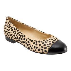 Women's Trotters Chic Cap Toe Tan Cheetah
