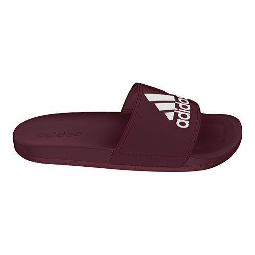 Shop Men S Adidas Adilette Cloudfoam Ultra Slide Maroon