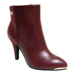 Women's Bellini Casey Ankle Boot Wine Lizard Fabric