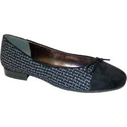 Women's Bellini Cass Ballet Flat Black/Grey Boucle Fabric