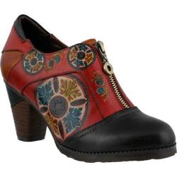 Women's L'Artiste by Spring Step Raina Slip On Black Multi Leather