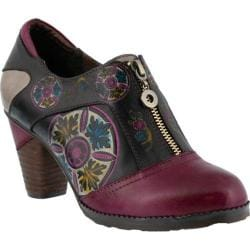 Women's L'Artiste by Spring Step Raina Slip On Purple Multi Leather