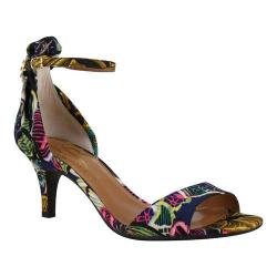 Women's J. Renee Andsell Ankle Strap Sandal Navy Multi Butterfly Graffiti Fabric