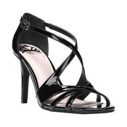 Women's Fergalicious Maya Sandal Black Patent Polyurethane