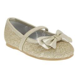 Girls' Nina Hazelle-T Ballet Flat Platino Baby Glitter/Metallic