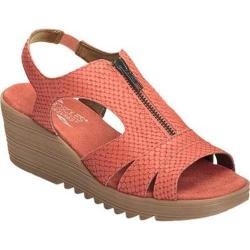 Women's Aerosoles Duffle Bog Wedge Sandal Coral Snake Embossed Leather