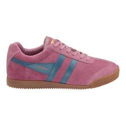 Women's Gola Harrier Sneaker Dusky Pink/Teal Suede