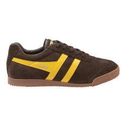Men's Gola Harrier Sneaker Brown/Sun Suede