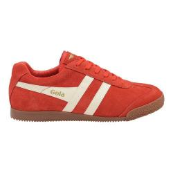Men's Gola Harrier Sneaker Red/Ecru Suede