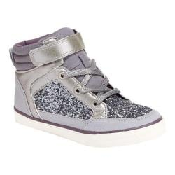 Girls' Hanna Andersson Ulla High Top Sneaker Silver Polyurethane